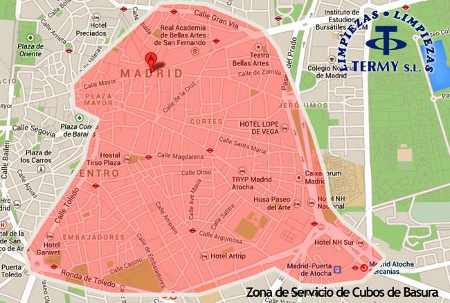 Servicio cubos de basura Madrid